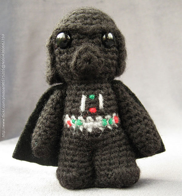 Free Amigurumi Snowman Crochet Patterns : Darth Vader AMIGURUMI TECNOARTES.NET