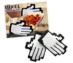 PIXEL OVEN MITTS, los guantes de cocina 8-bits