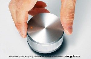 'vol' portable speaker, designed by hironao tsuboi for british american tobacco.