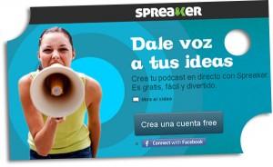 SPREAKER, Crea tu podcast en directo.