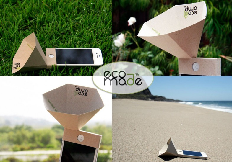 Eco-Amp: amplificador de cartón para iPhone
