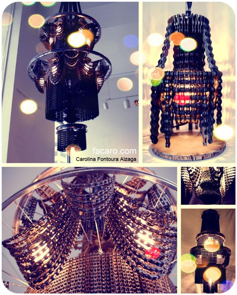 L mparas hechas con piezas de bicicletas tecnoartes net - Piezas para lamparas ...