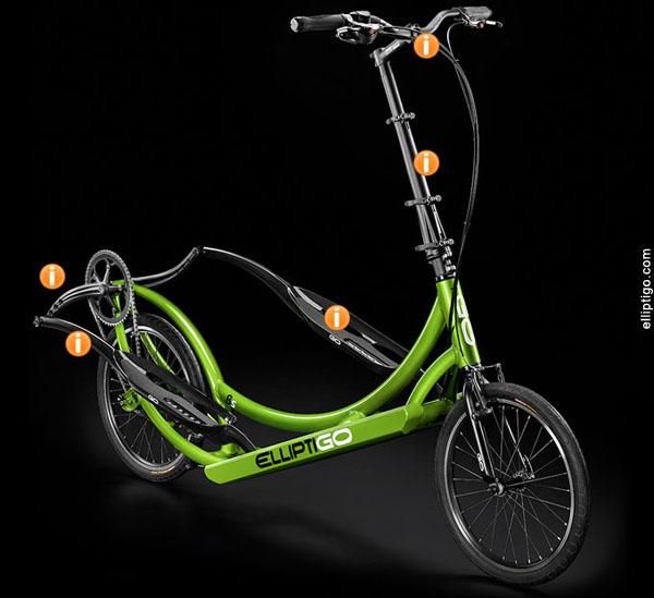 Elliptigo, la bicicleta elípitca