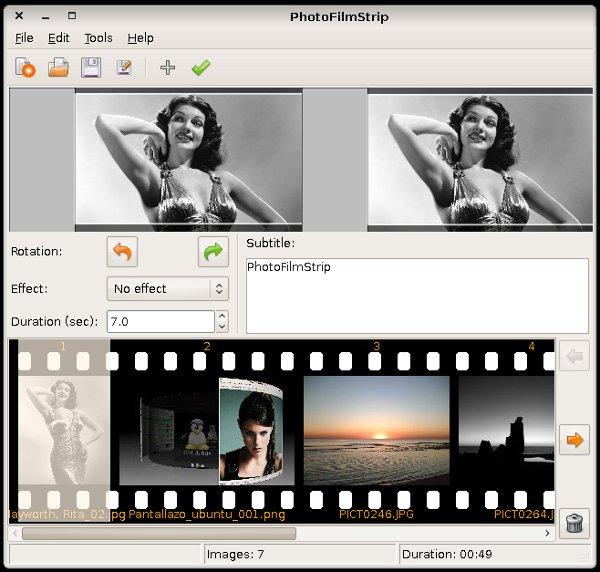 PhotoFilmStrip – crear videos con imágenes