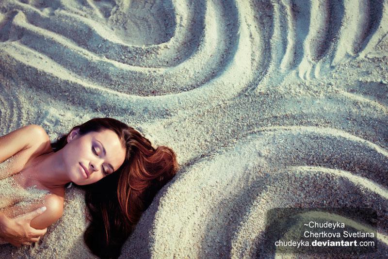 Bonitas imágenes en la arena de la playa.