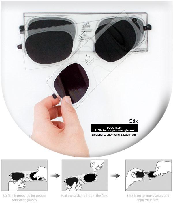 gafas 3d pegatinas