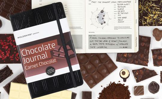 Si eres un amante del chocolate, se te hara la boca agua con la libreta de Moleskine.