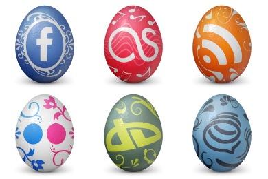 iconos de huevos de pascua