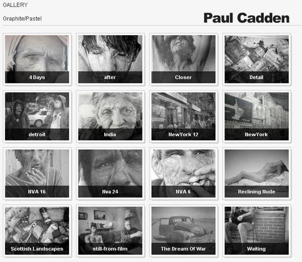 Galería del artista hiperrealista Paul Gadden de dibujos hechos a lápiz sobre papel reciclado.
