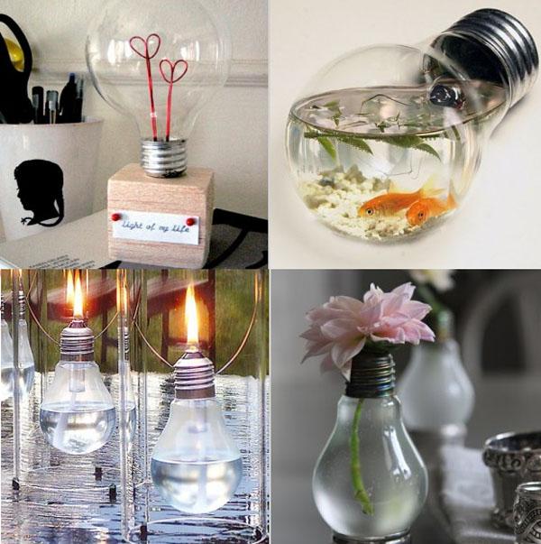 Muestra de reciclaje y arte tecnoartes net - Bombillas de decoracion ...