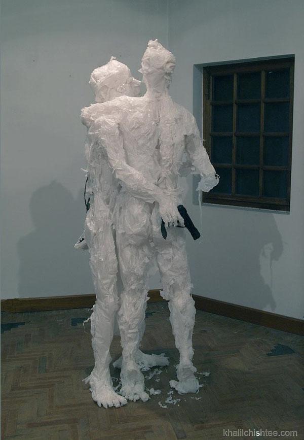 arte con bolsas de basura