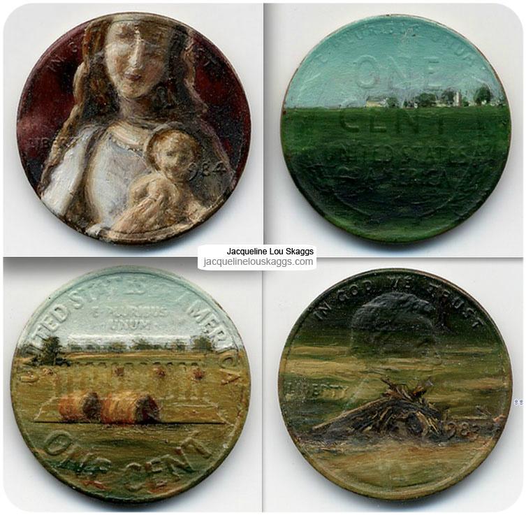 monedas pintadas