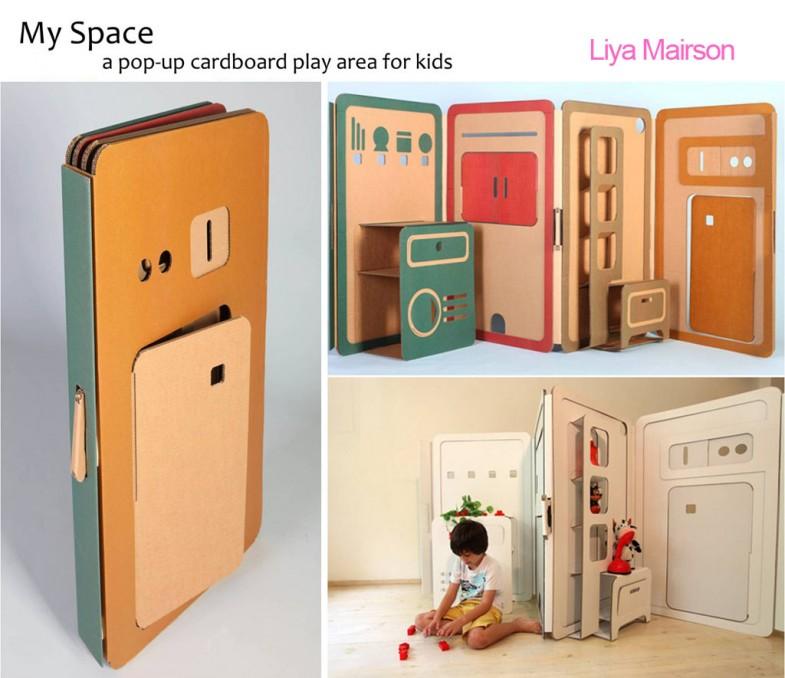 Casas de juguete hechas de cartón