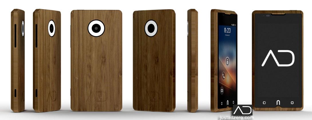 ADzero - El teléfono Android de bambú.