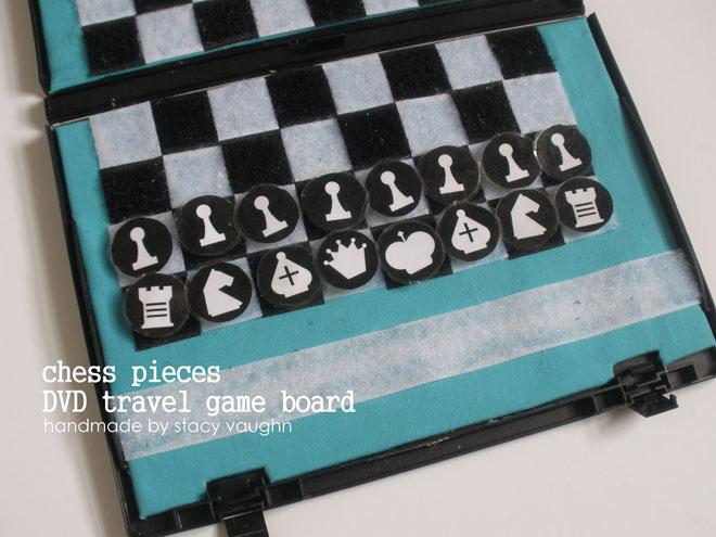 Esteuche para piezas de ajedrez recortables