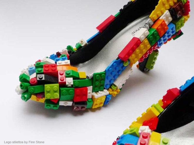 Lego stilettos by Finn Stone