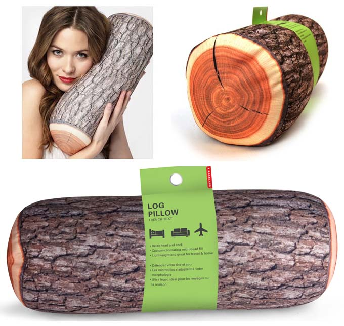 Log-Pillow, almohada tronco