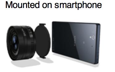sensor y objetivo para smartphone