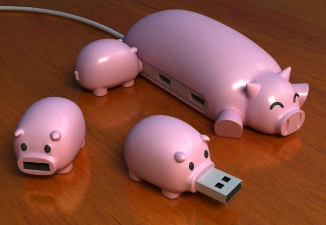 Hub cerditos microSD