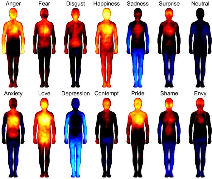 Emotional body maps