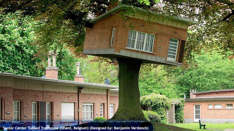 Senior Center Turned Treehouse (Ghent, Belgium)