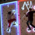 Jugando a Pong en la pared