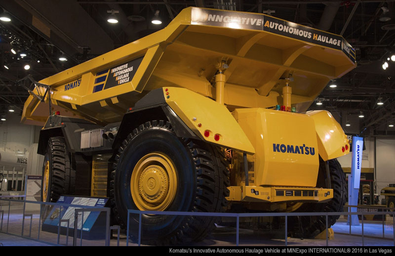 Komatsu's Innovative Autonomous Haulage Vehicle at MINExpo INTERNATIONAL® 2016 in Las Vegas