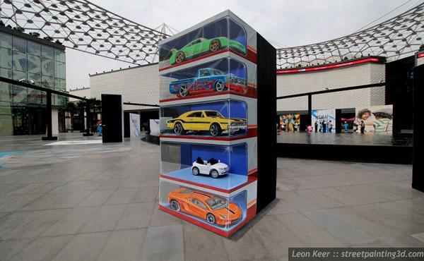 Dibujos 3D en la calle