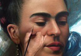 Pintando a Frida Kahlo